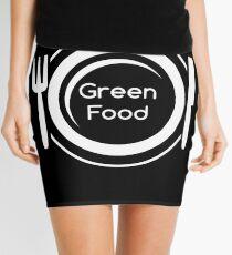 Green Food Vegetarian Plate Mini Skirt