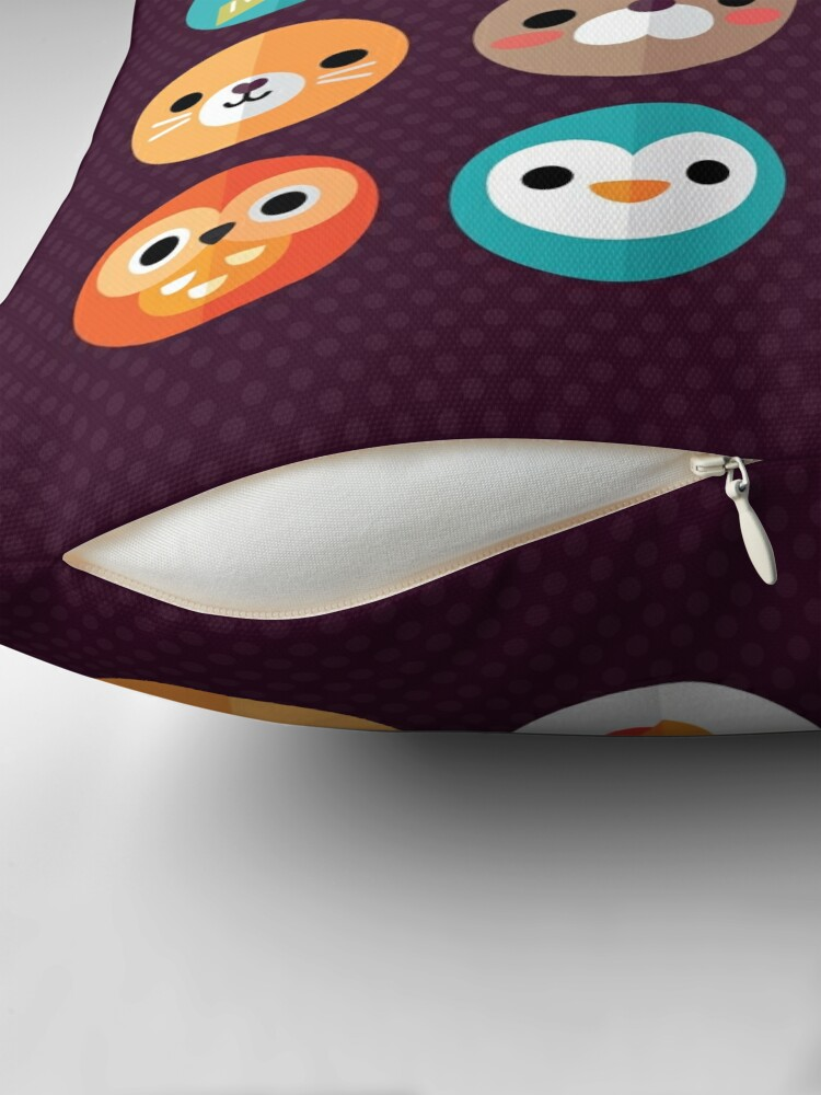 Alternate view of Smiley Faces Throw Pillow