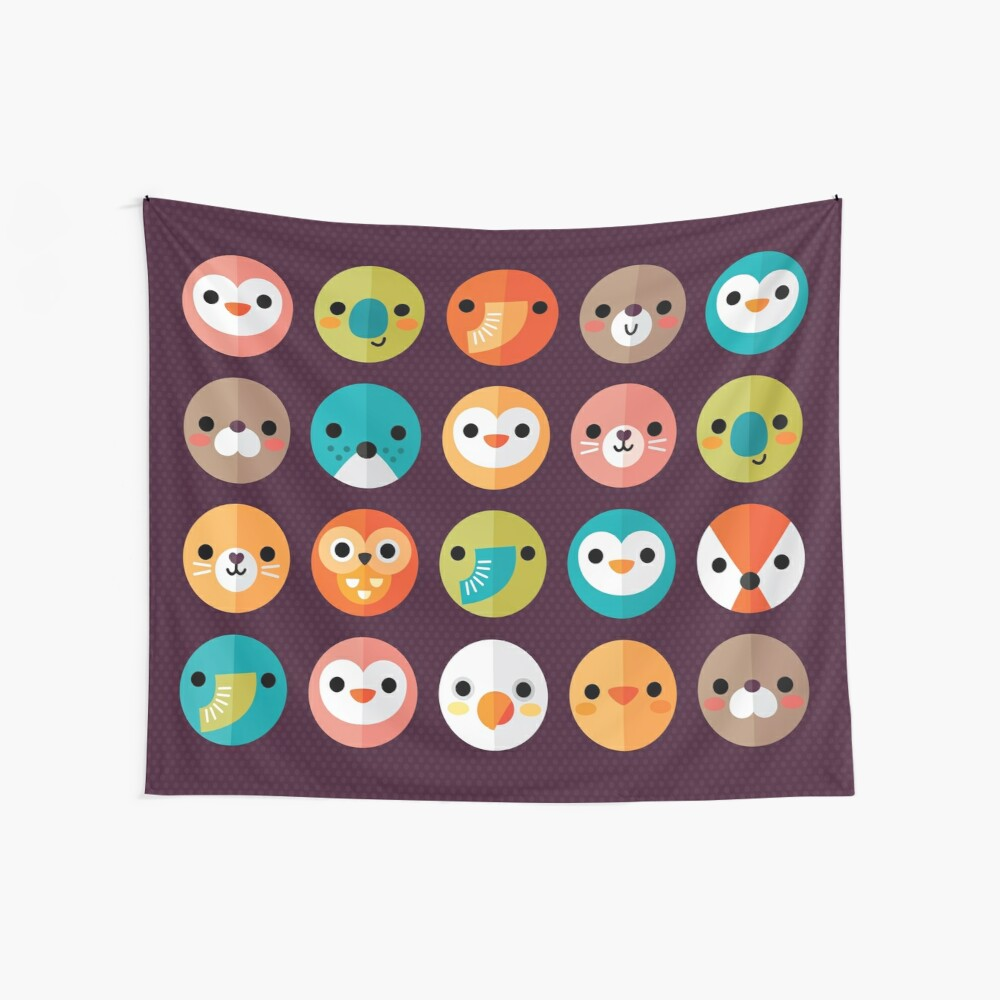 Smiley Faces Wall Tapestry