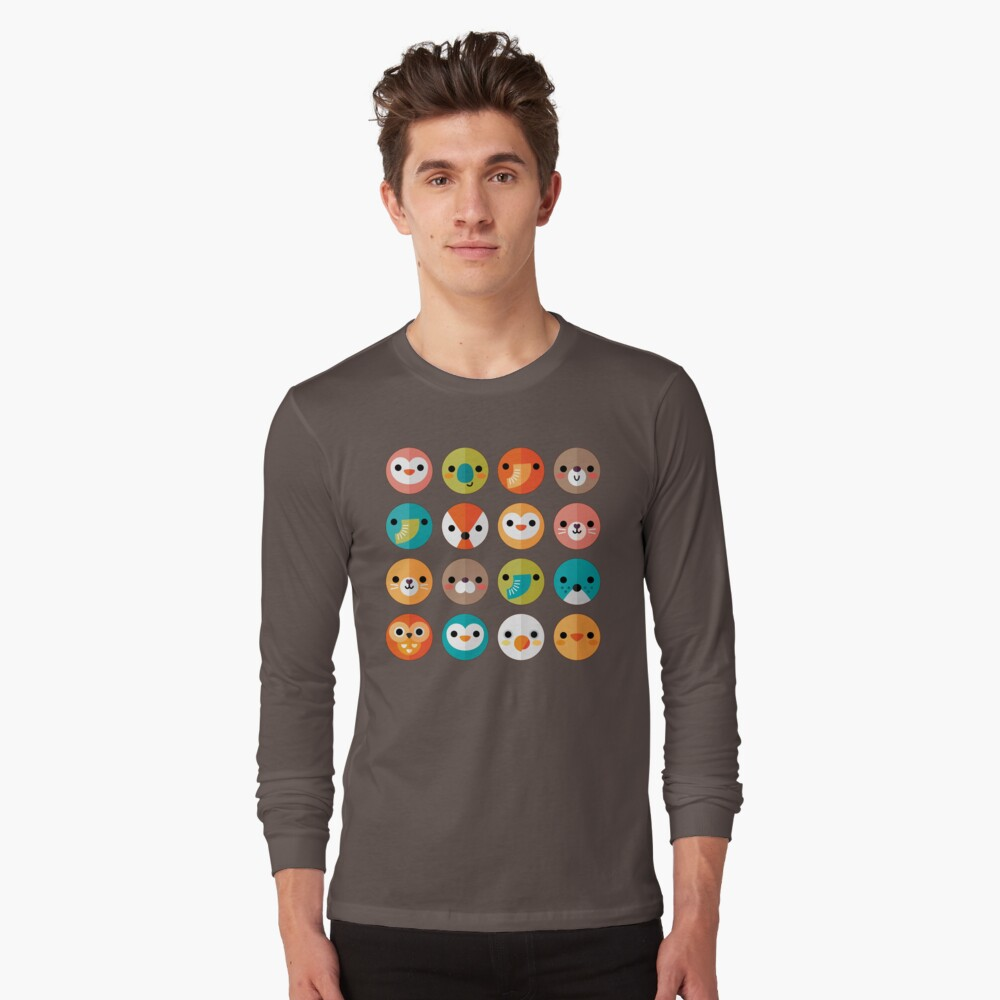 Smiley Faces Long Sleeve T-Shirt
