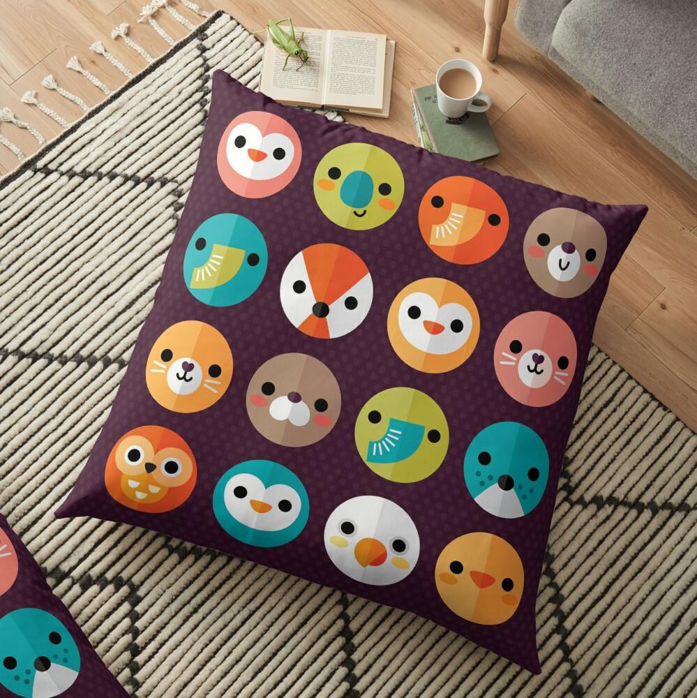 Smiley Faces Floor Pillow