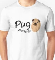 Funny Dog Pug Potato Gift Lover Pets Puppy T-Shirt