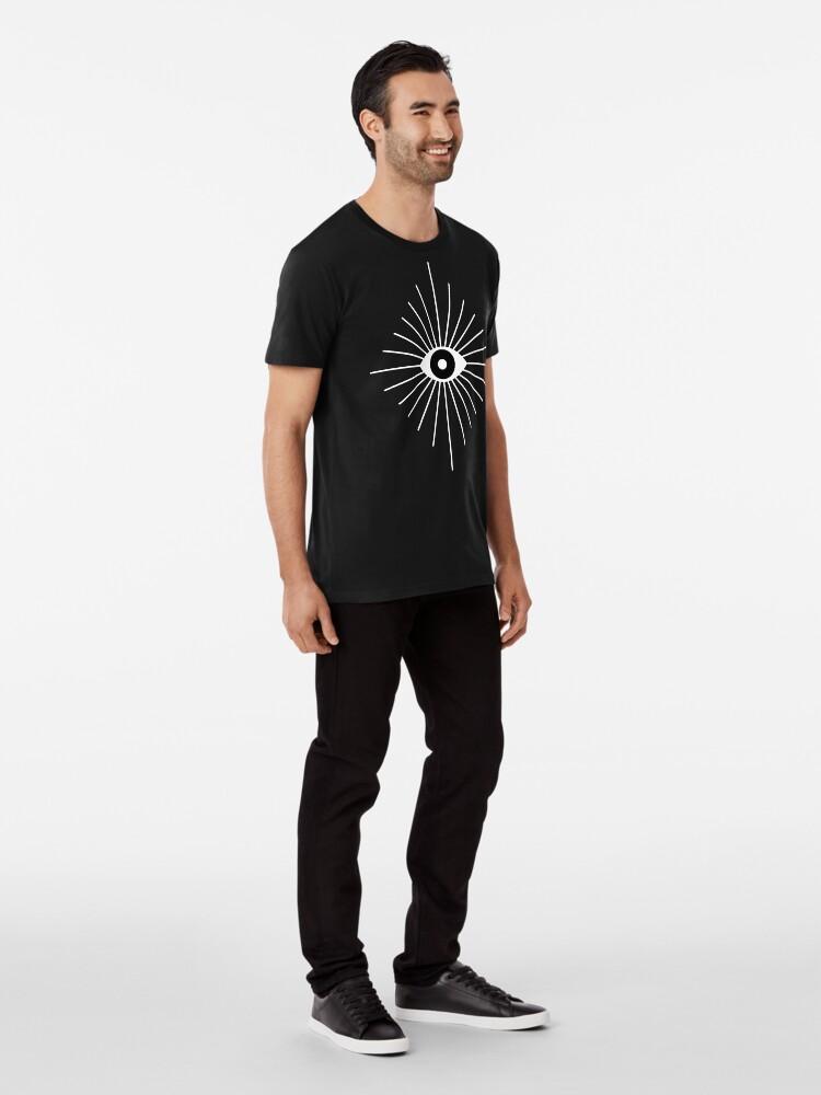 Alternative Ansicht von Elektrische Augen - Schwarzweiss Premium T-Shirt