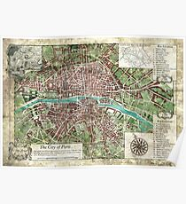 Reign of Terror - City of Paris Keeper Map (Call of Cthulhu) Poster