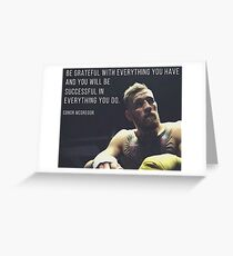 Tarjeta de felicitación Conor McGregor