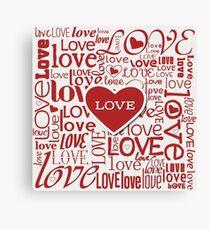 Love Words Typography Design Canvas Print
