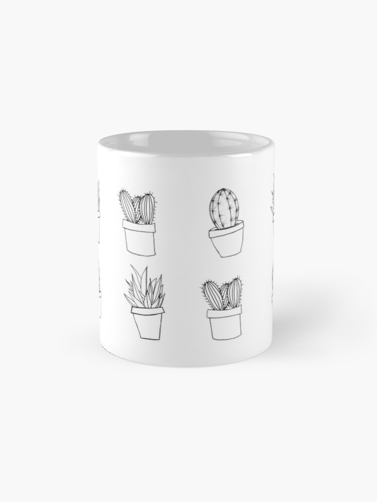 Vista alternativa de Tazas Minimal Cactus Print - Dibujado a mano