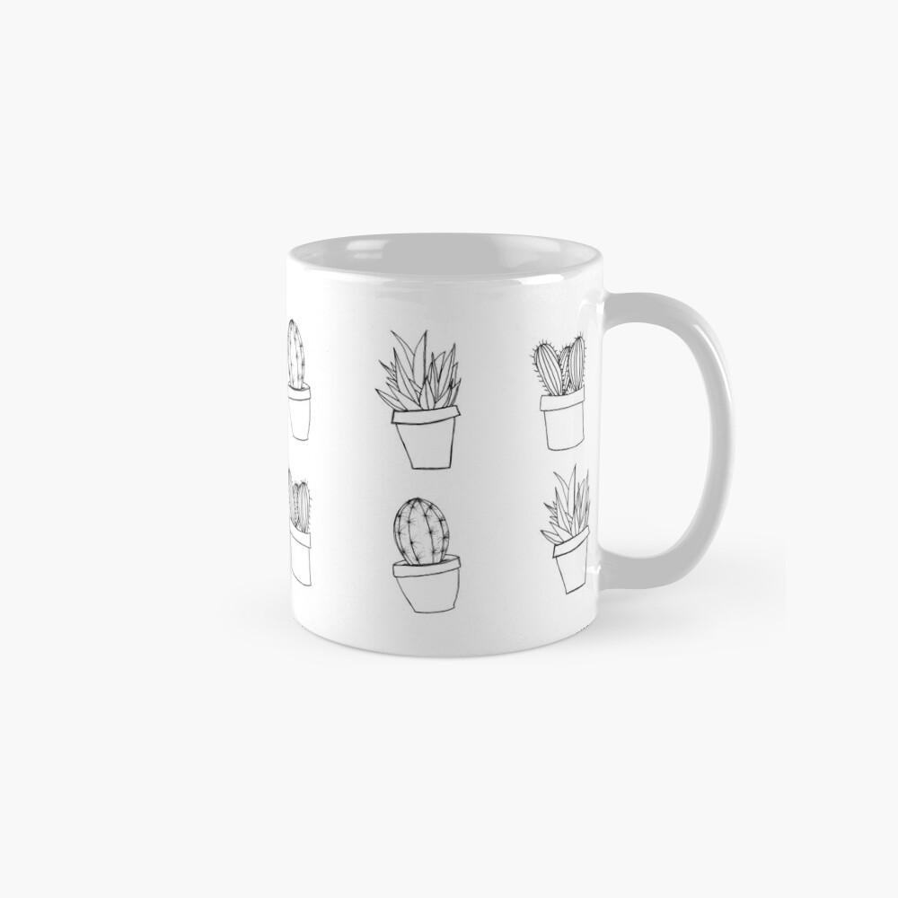 Minimal Cactus Print - Dibujado a mano Tazas
