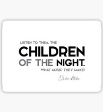 children of the night - bram stoker Sticker