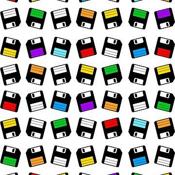 Floppy Retro Pattern by SeijiArt