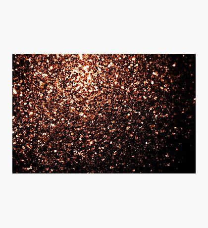 Beautiful Bronze Orange Brown glitters sparkles Photographic Print