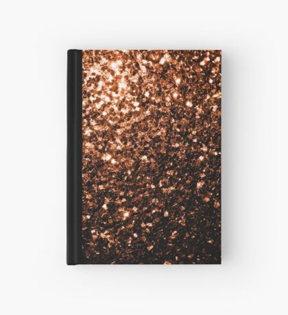 Beautiful Bronze Orange Brown glitters sparkles Hardcover Journal