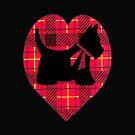 Tartan Scottie Heart by sharpie
