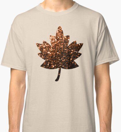 Beautiful Bronze Orange Brown glitters sparkles Classic T-Shirt