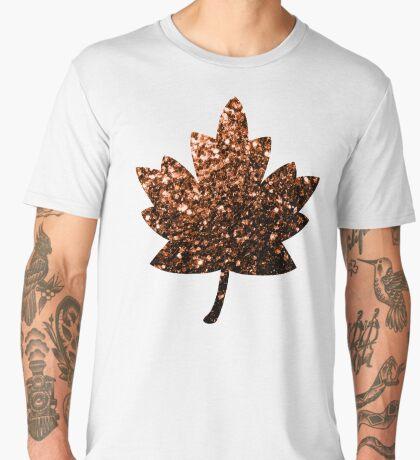Beautiful Bronze Orange Brown glitters sparkles Men's Premium T-Shirt