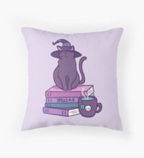 Feline Familiar Throw Pillow