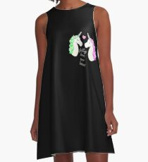Horn over Hooves (in Love)- Unicorns A-Line Dress