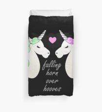 Horn over Hooves (in Love)- Unicorns Duvet Cover