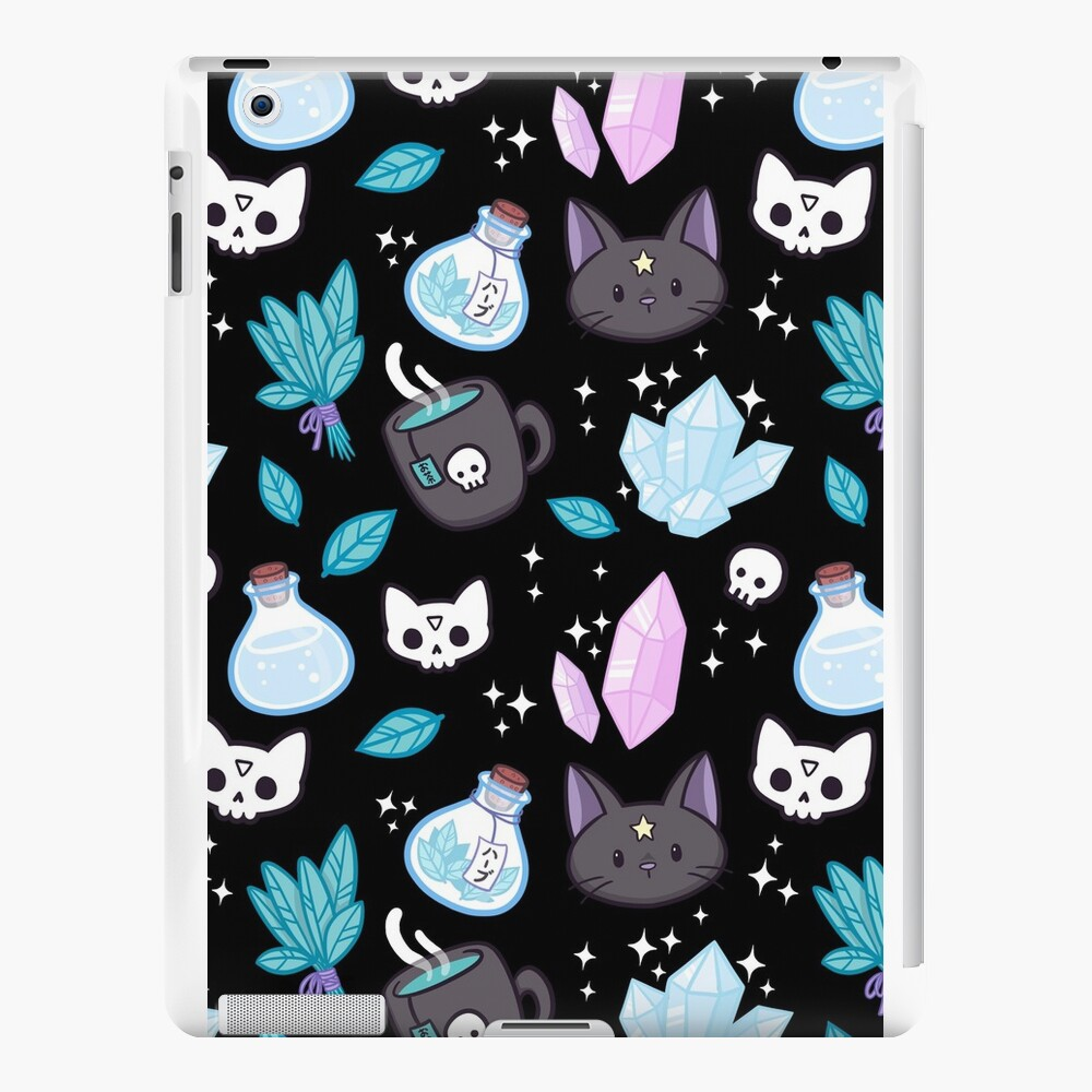 Herb Witch // Black iPad Cases & Skins