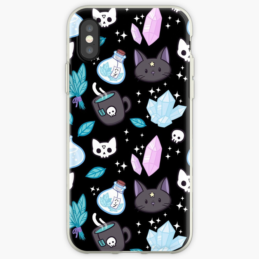 Herb Witch // Black iPhone Cases & Covers