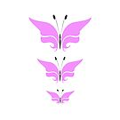 Butterflies Black & Pink by Catherine Hamilton-Veal  ©