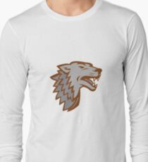 Barking Gray Wolf Icon T-Shirt