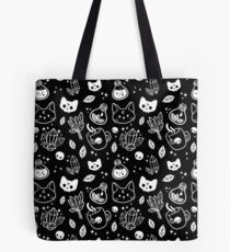 Herb Witch // Black & White Tote Bag