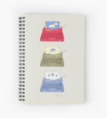 Typewriter on beige by Katie Spiral Notebook