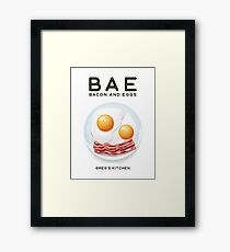 Greg's Kitchen BAE Bacon And Eggs  Framed Print