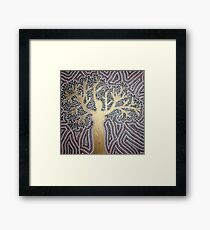 woman-tree Framed Print
