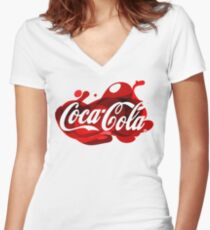 Coca-Cola Madness Women's Fitted V-Neck T-Shirt