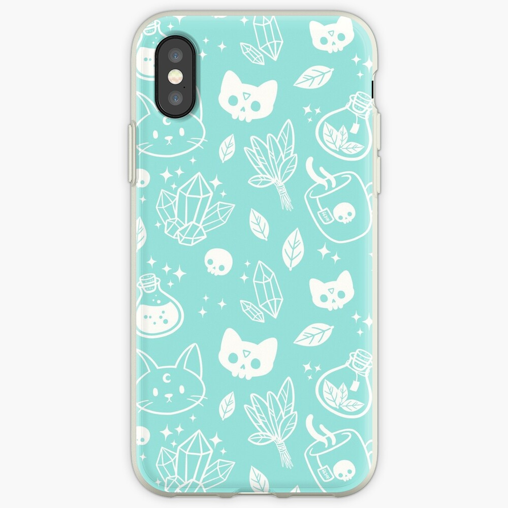 Herb Witch // Green Pastel iPhone Case & Cover