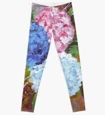 Hydrangeas in Acrylic Leggings
