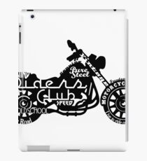 Black Motorbike iPad Case/Skin