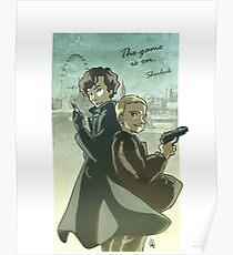 The Game is One - Sherlock Poster