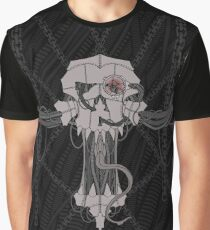 Cyberart Decayed Skull Graphic T-Shirt