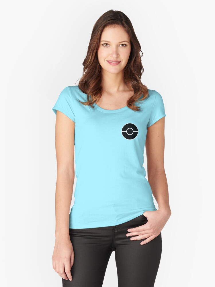 Pokeball Women's Fitted Scoop T-Shirt Front
