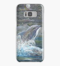 Dolphin Leap for the Moon Samsung Galaxy Case/Skin