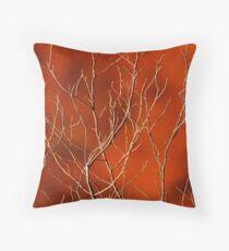 Bio Orange, Klebriges Orange Design Dekokissen