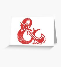 Ampersand - Dungeons & Dragons Retro Greeting Card