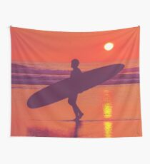 Surfer Sunset 1.1 Wall Tapestry