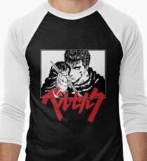 Guts with red japanese berserk logo T-Shirt