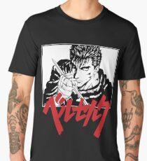 Guts with red japanese berserk logo Men's Premium T-Shirt