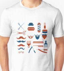 Barbershop Pattern Design T-Shirt
