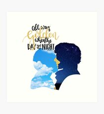 Golden Skies Johnlock Design Art Print