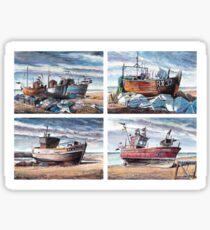 Hastings Fishing Boats Sticker