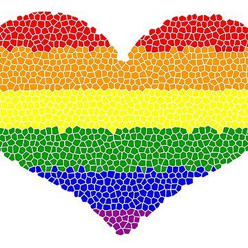 Rainbow Heart Mosaic by JCDesignsUK