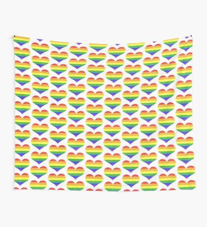 Regenbogen Herz Mosaik Wandbehang