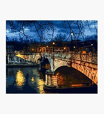 Rome, romantic nights Photographic Print