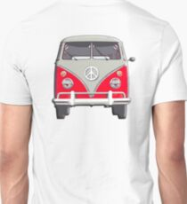 Volkswagen, Van, RED, Camper, Split screen, 1966 Volkswagen, Kombi, North America T-Shirt